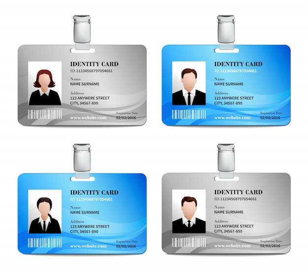 Id Card Set Vector  Free Download