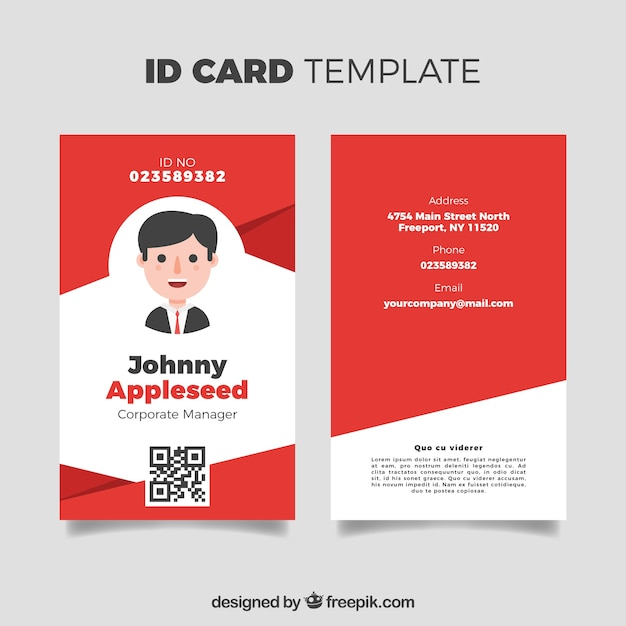 id card template vector free download