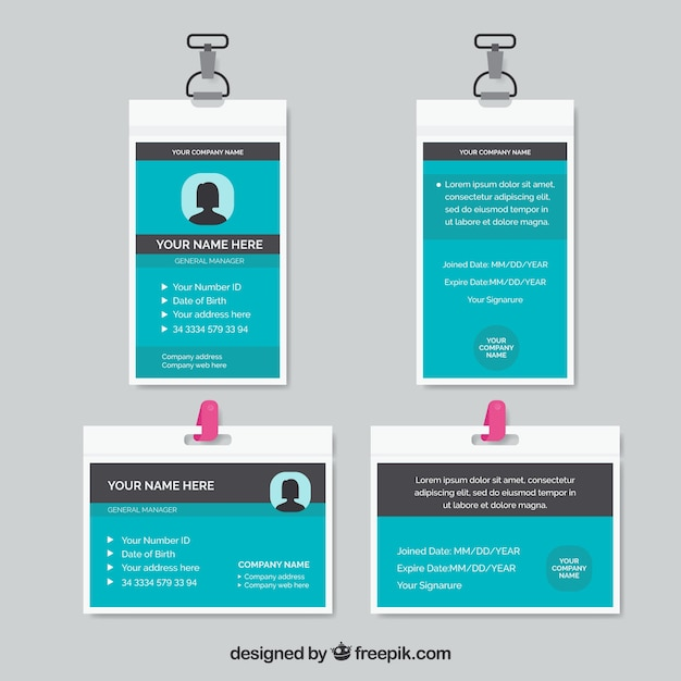 Id Card Template Vector