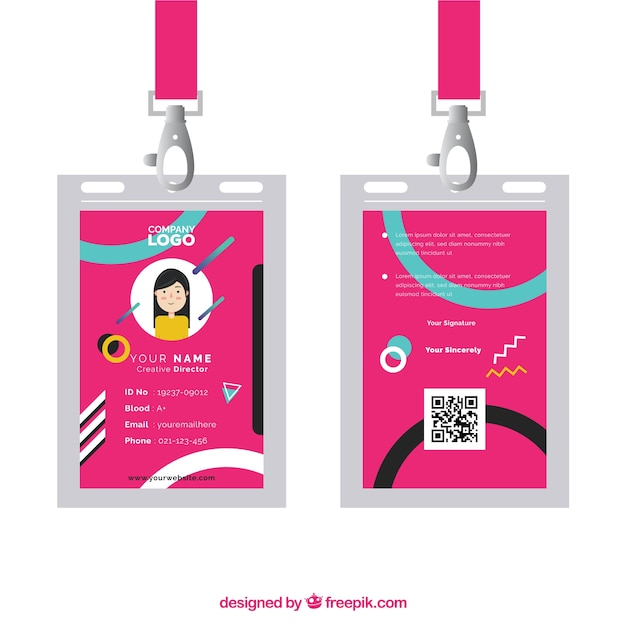 Id card template Vector | Free Download