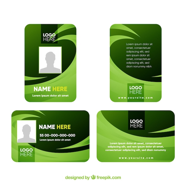 Free Vector Id Card Template