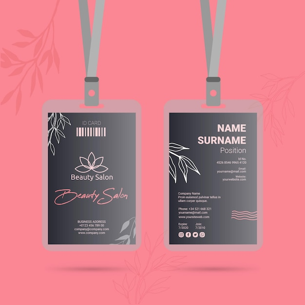 Id card template Free Vector