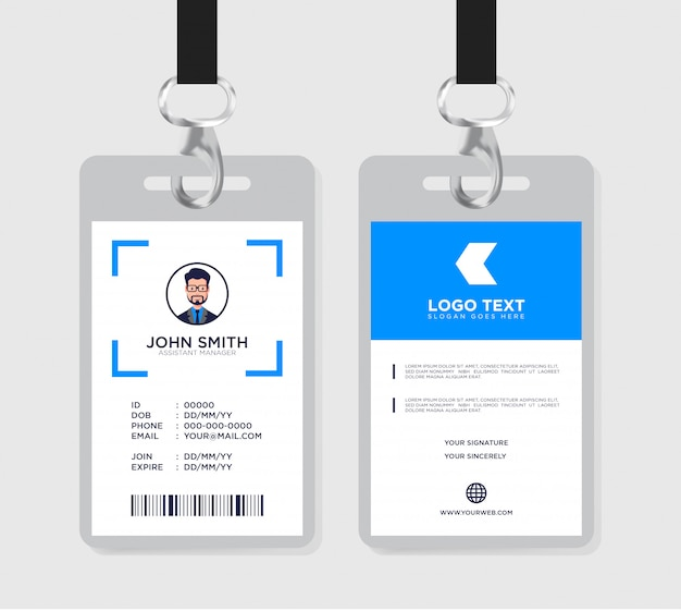 Id card template Premium Vector
