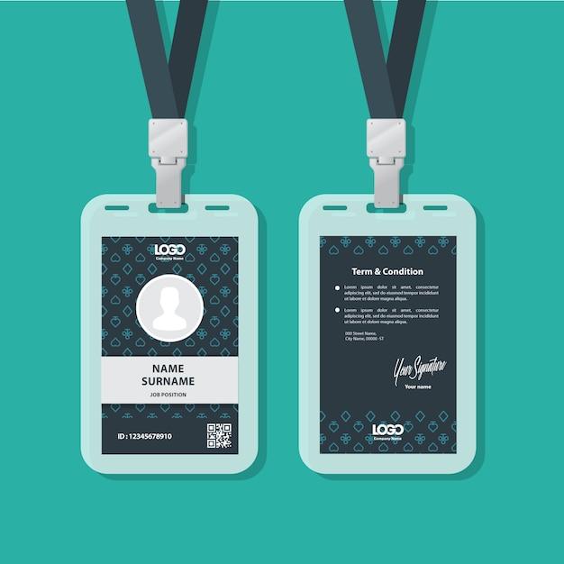 Id card Premium Vector