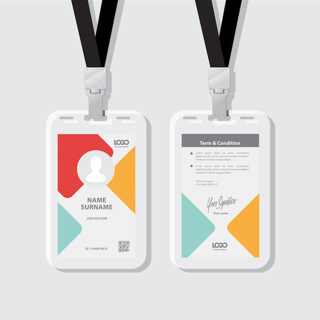 Id card Premium Vector