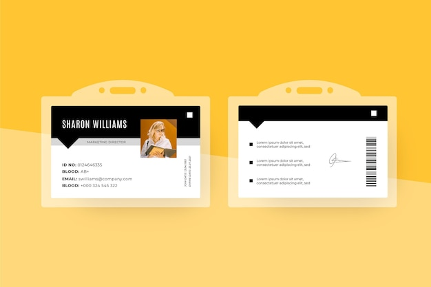 Id cards template minimal design Premium Vector