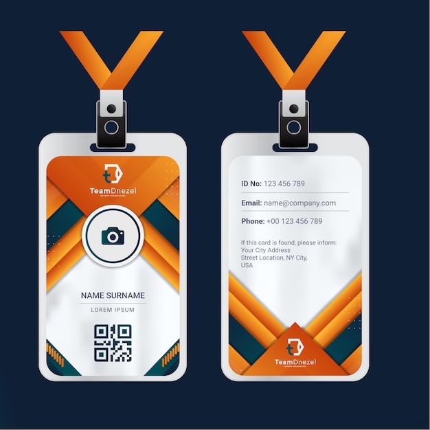 カラフルな企業idカードテンプレート Premiumベクター