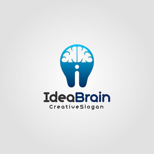 Idea brain - creative logo template Premium Vector
