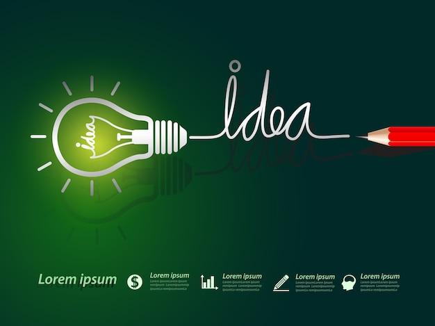 Idea concept Premium Vector