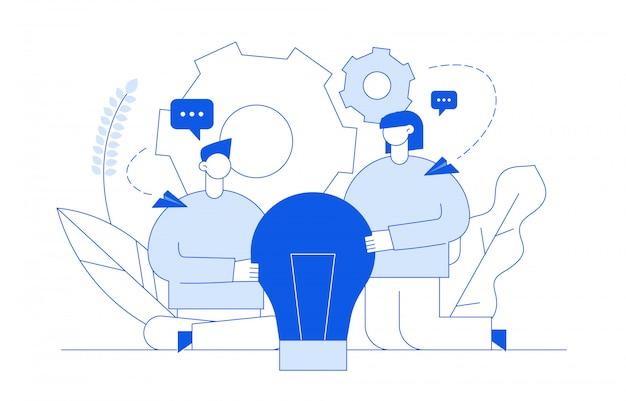 Idea design concept Premium Vector