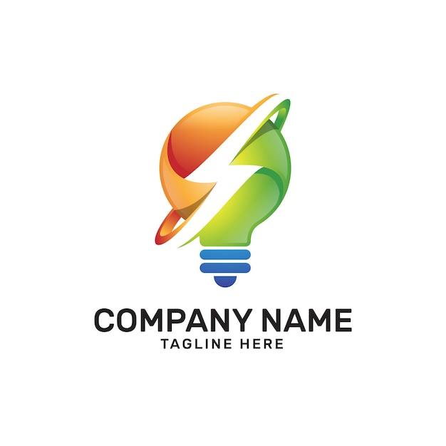 premium vector idea light bulb thunder power logo https www freepik com profile preagreement getstarted 1811230
