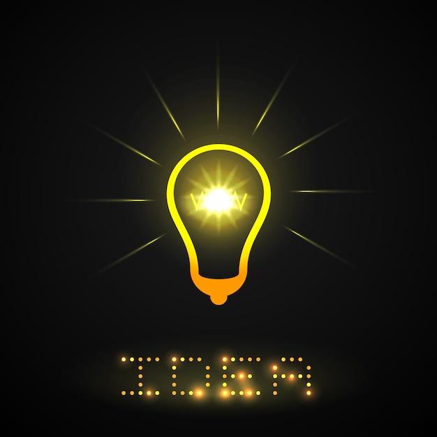 Idea light bulb Free Vector