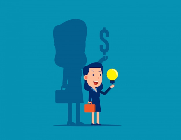 The idea of making money for business Premium Vector