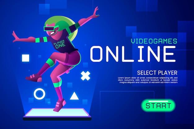 Idea per videogiochi online Vettore gratuito
