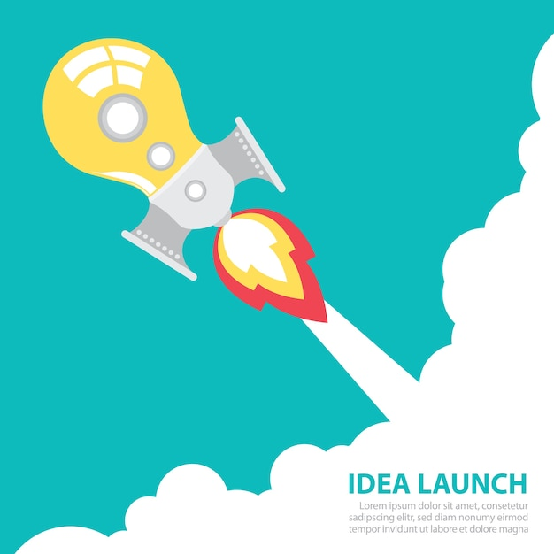 Idea Rocket Launch Vector