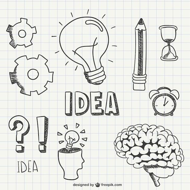 Idea scribbles Free Vector
