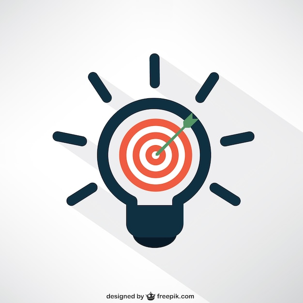 Idea and target concept Premium Vector