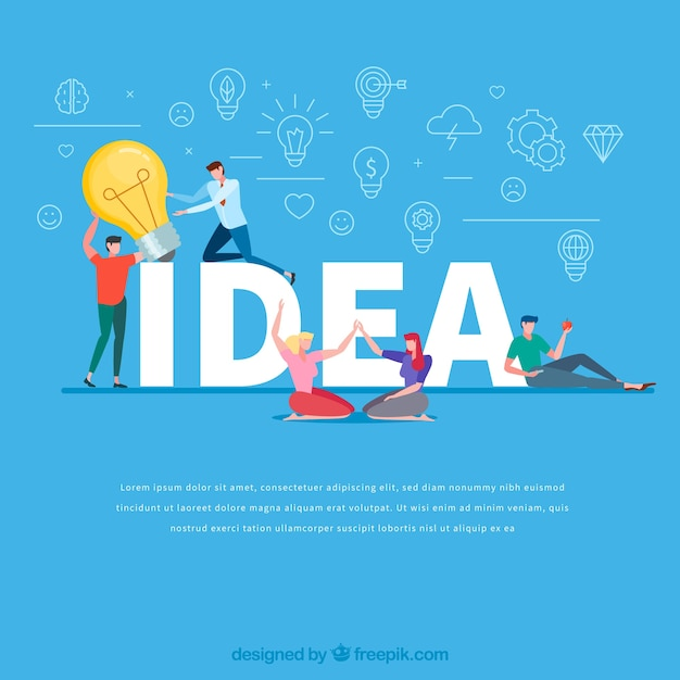 Idea word concept Free Vector