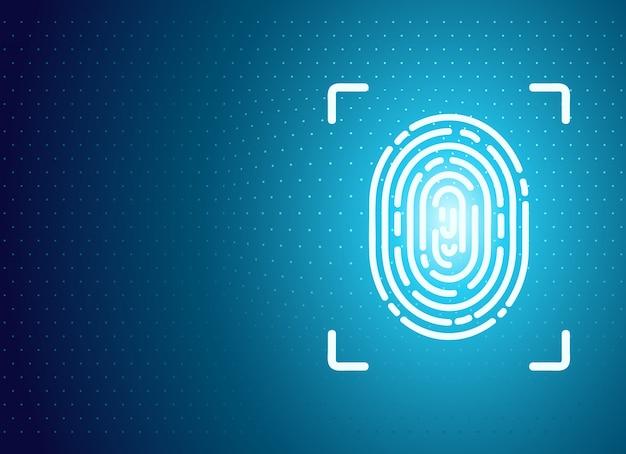 Identification fingerprint background Premium Vector