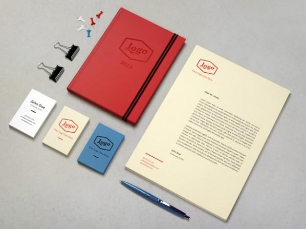 Identity / branding mockup Free Vector