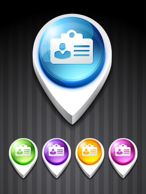 Значок удостоверения личности Premium векторы