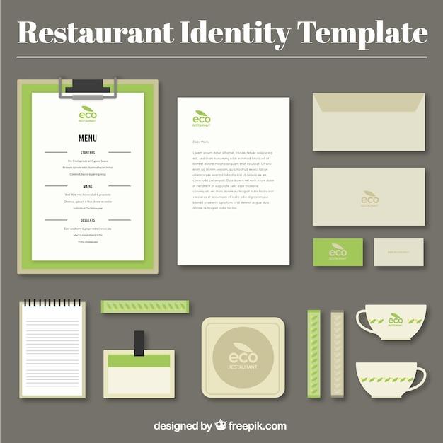 Identity corporate for eco restaurant