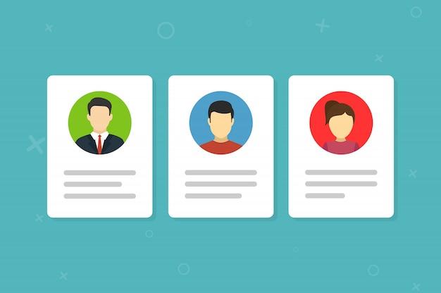 個人の写真と情報を含む身分証明書。 Premiumベクター