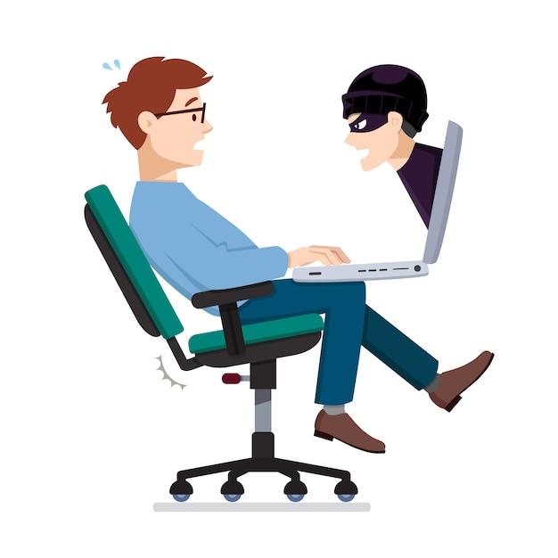 個人情報の盗難 Premiumベクター
