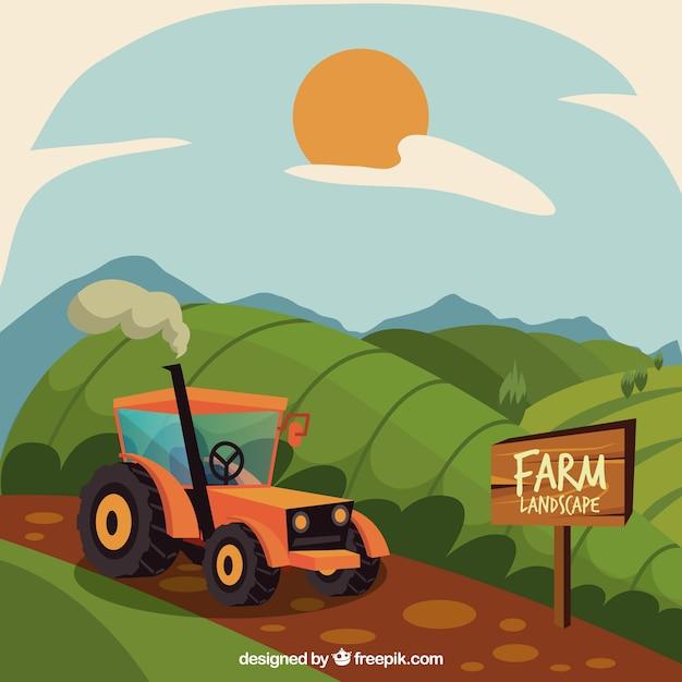 Idyllic farm scenery