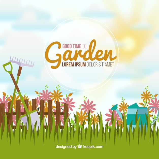 Idyllic garden background Vector