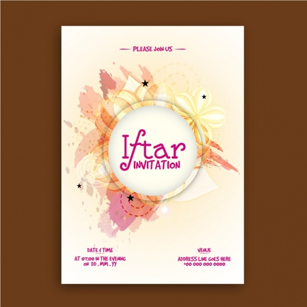 Iftar invitation template in abstract style vector premium download iftar invitation template in abstract style premium vector stopboris Gallery