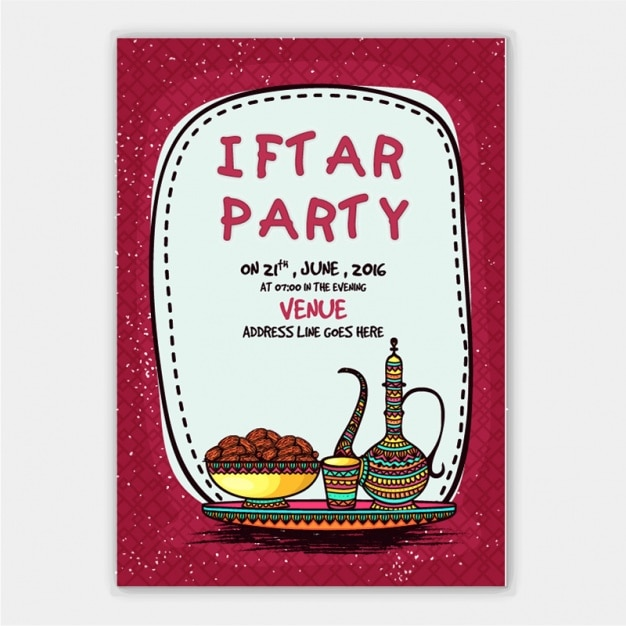 Iftar party invitation with tea and cookies vector premium download iftar party invitation with tea and cookies premium vector stopboris Gallery