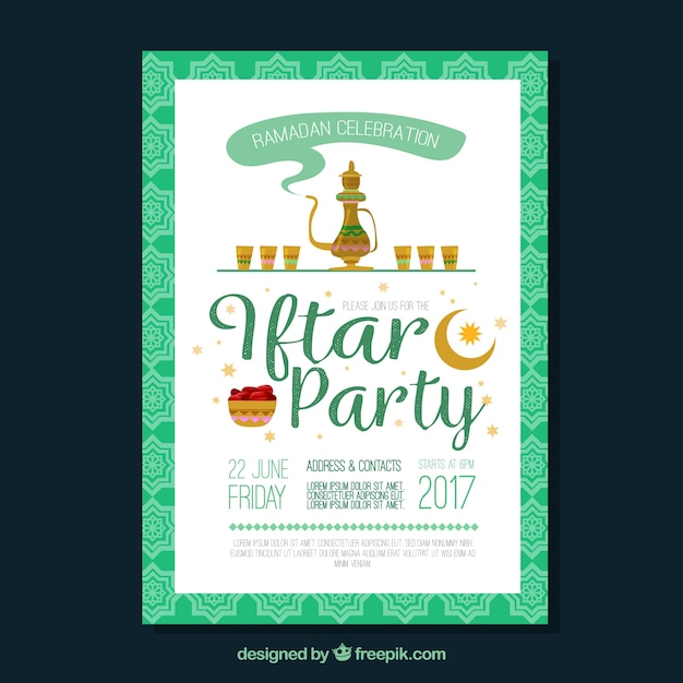 Iftar party invitation vector free download iftar party invitation free vector stopboris Images