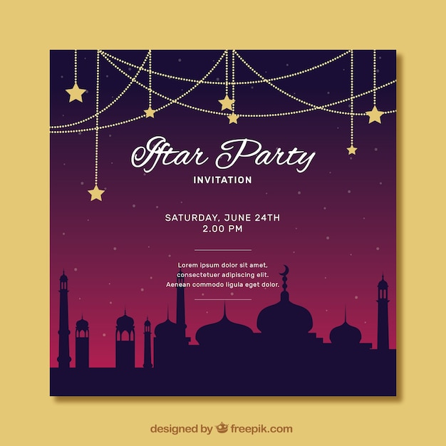 Iftar party invitation vector free download iftar party invitation free vector stopboris Choice Image