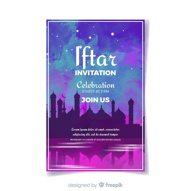 Iftar party Free Vector