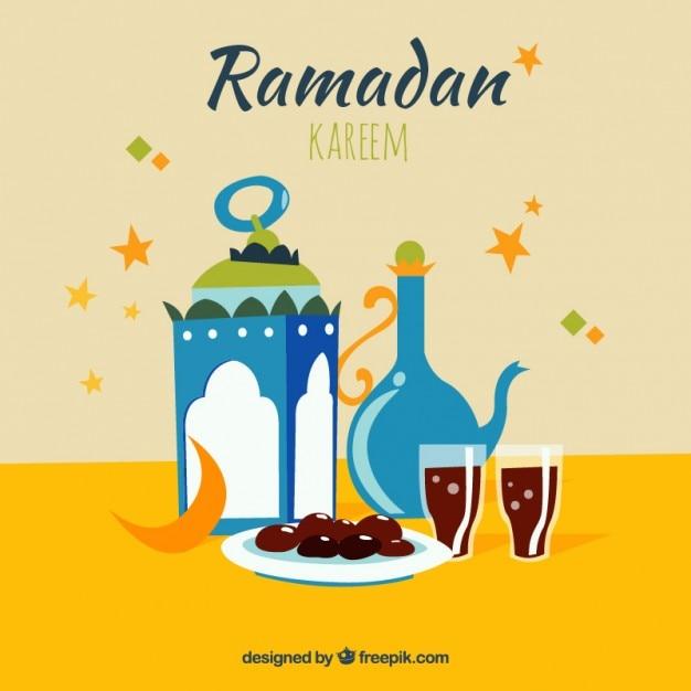 Iftar ramadan card Vector : Premium Download