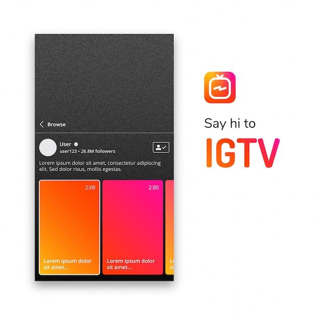 Igtv投稿テンプレート Premiumベクター