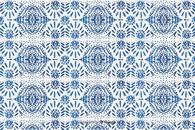 Ikat background Free Vector