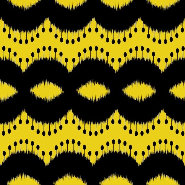 Ikat seamless pattern design for fabric Premium Vector