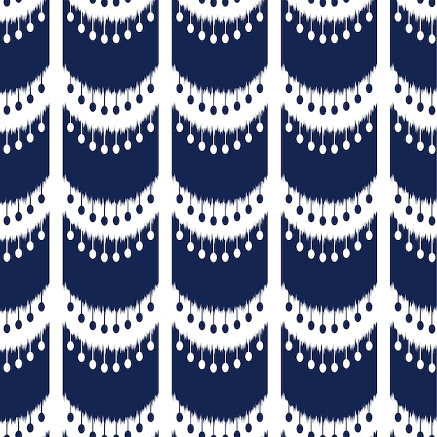 Ikat seamless pattern design for fabric Premium Vector
