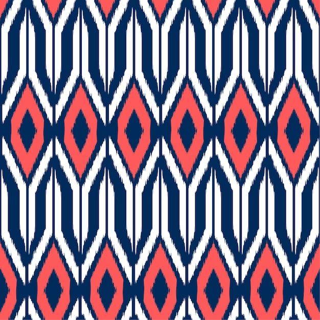 Ikat seamless pattern Premium Vector