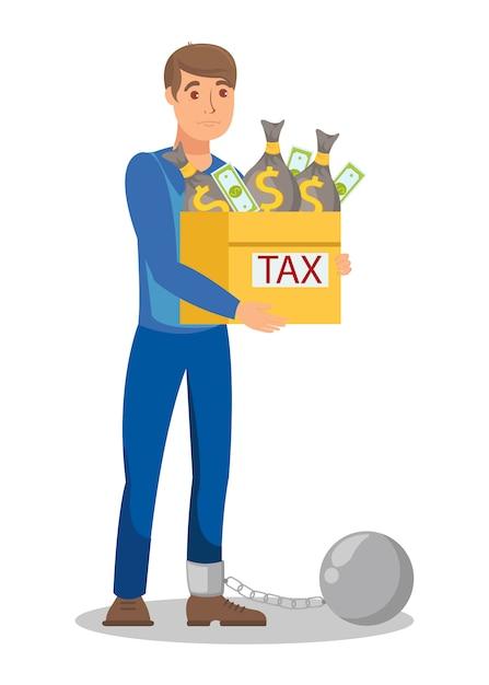 Illegal tax evasion cartoon Premium Vector