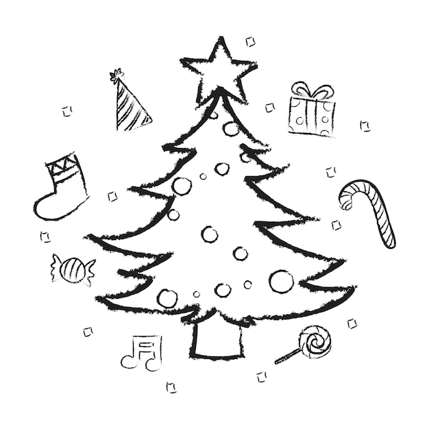 Illsutration of christmas holiday Free Vector