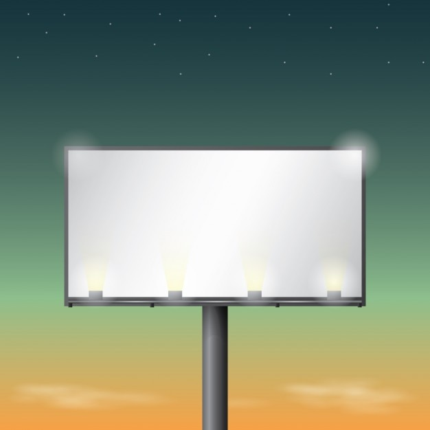 illuminated billboard design vector free download