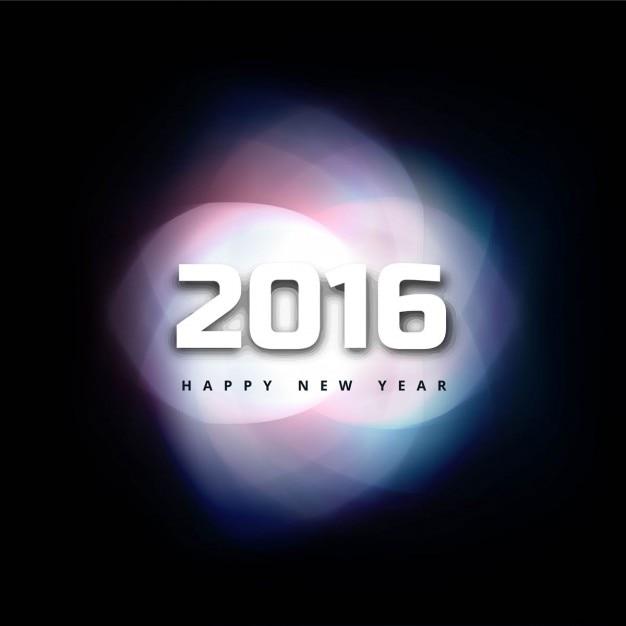 Illuminated new year 2016 background