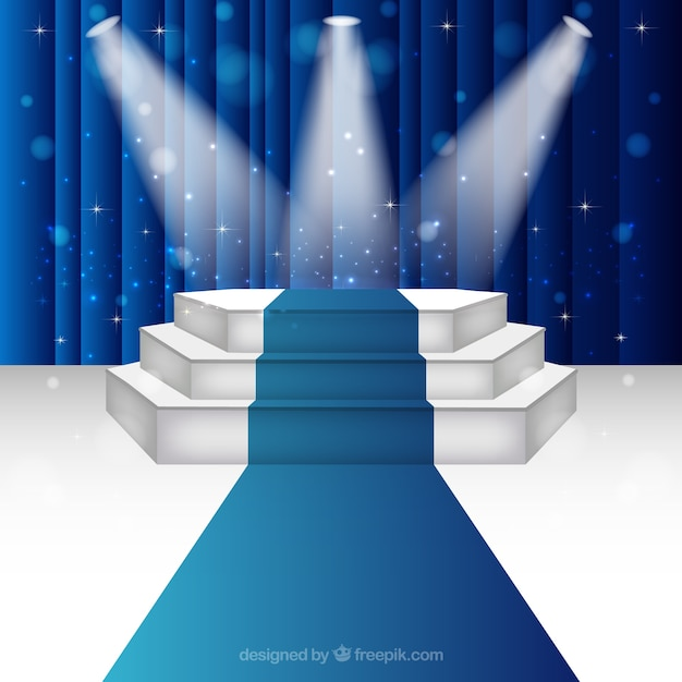 illuminated stage podium vector free download
