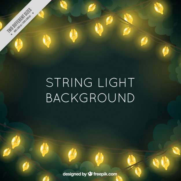 String Of Lights Background : illuminated string lights background Vector Free Download
