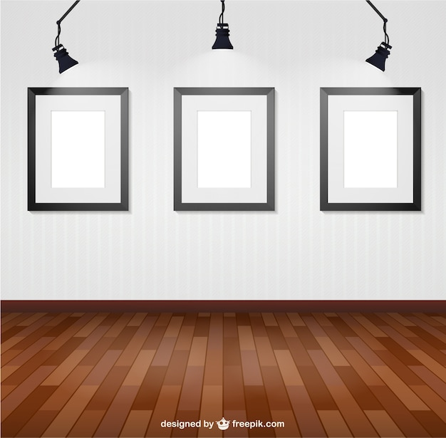 Illuminated wall frames Vector | Free Download