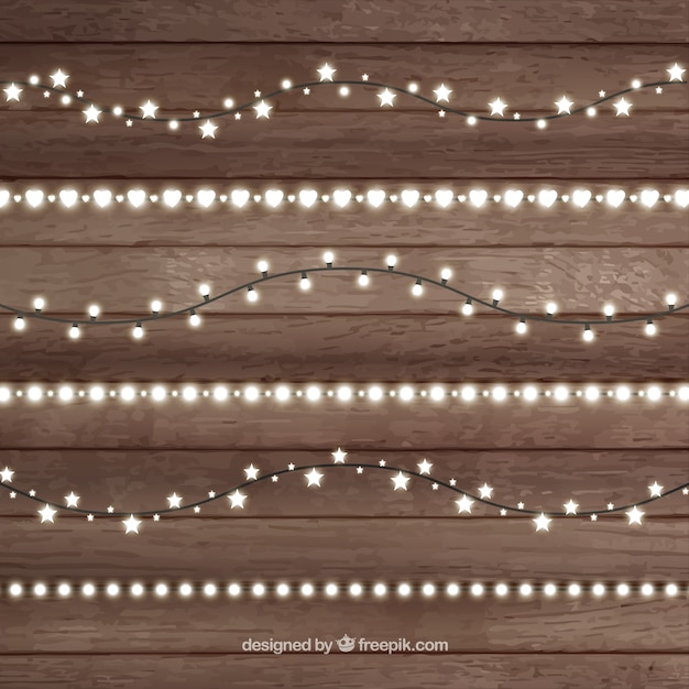 Illumintated christmas lights Vector Free Download