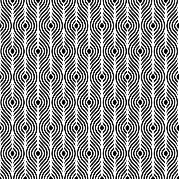 Illusion seamless pattern Premium Vector